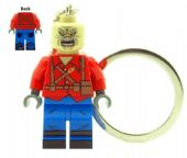 Eddie The Trooper (Iron Maiden) Single Cover Mascot Keychain Keyring - Custom Designed Minifigure